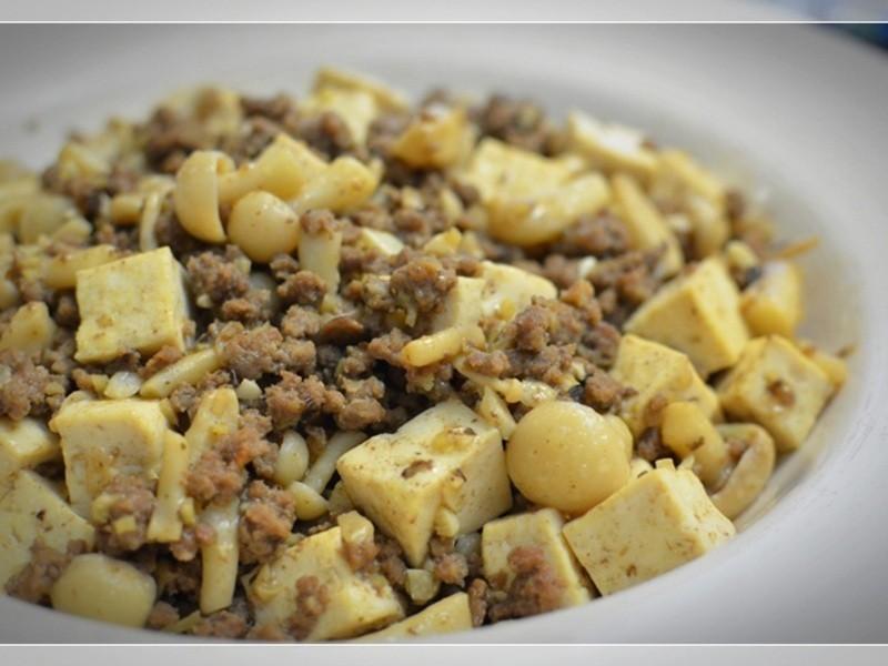 [四季江戶味之秋季料理]-豉椒肉末炒雙白
