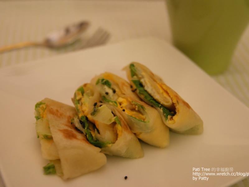 【Pati Tree的幸福廚房】營養早餐 -- 蔬菜蛋餅
