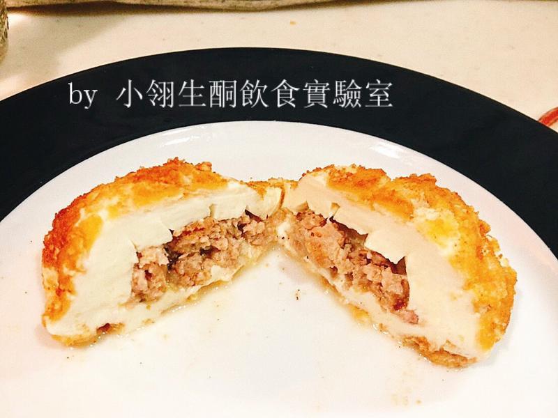 生酮版酥炸馬自瑞拉絞肉夾心起司丸/起司片