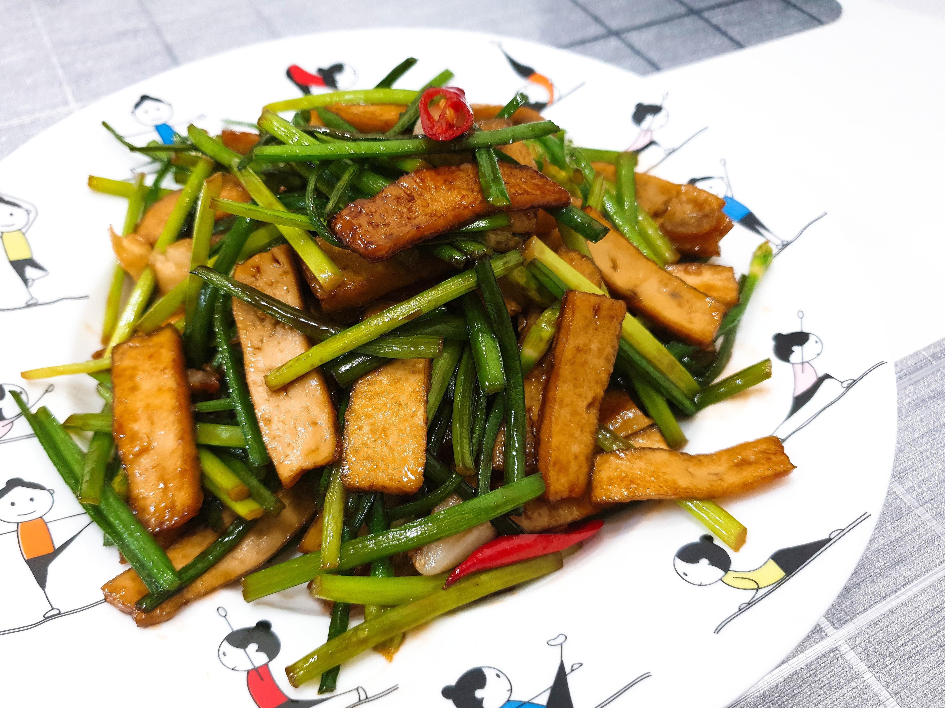 豆干炒韭菜花