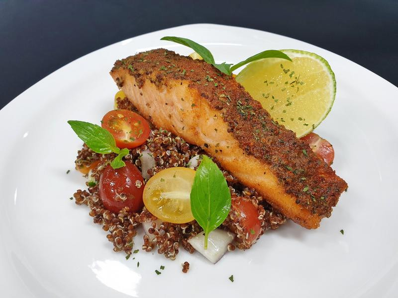 低GI▸地中海香料鮭魚&黎麥沙拉