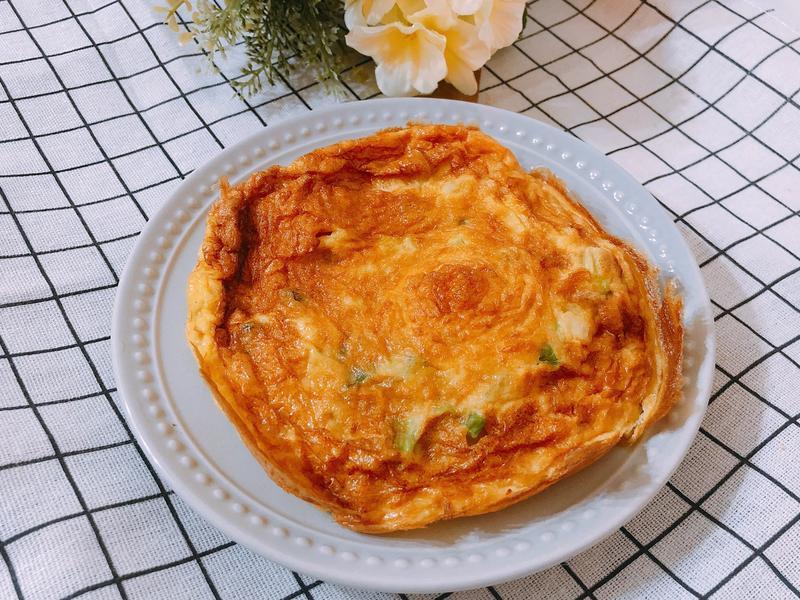 氣炸鍋料理-蔥花烘蛋