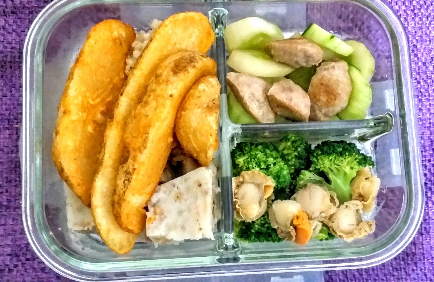 中學生便當-薯條糙米飯