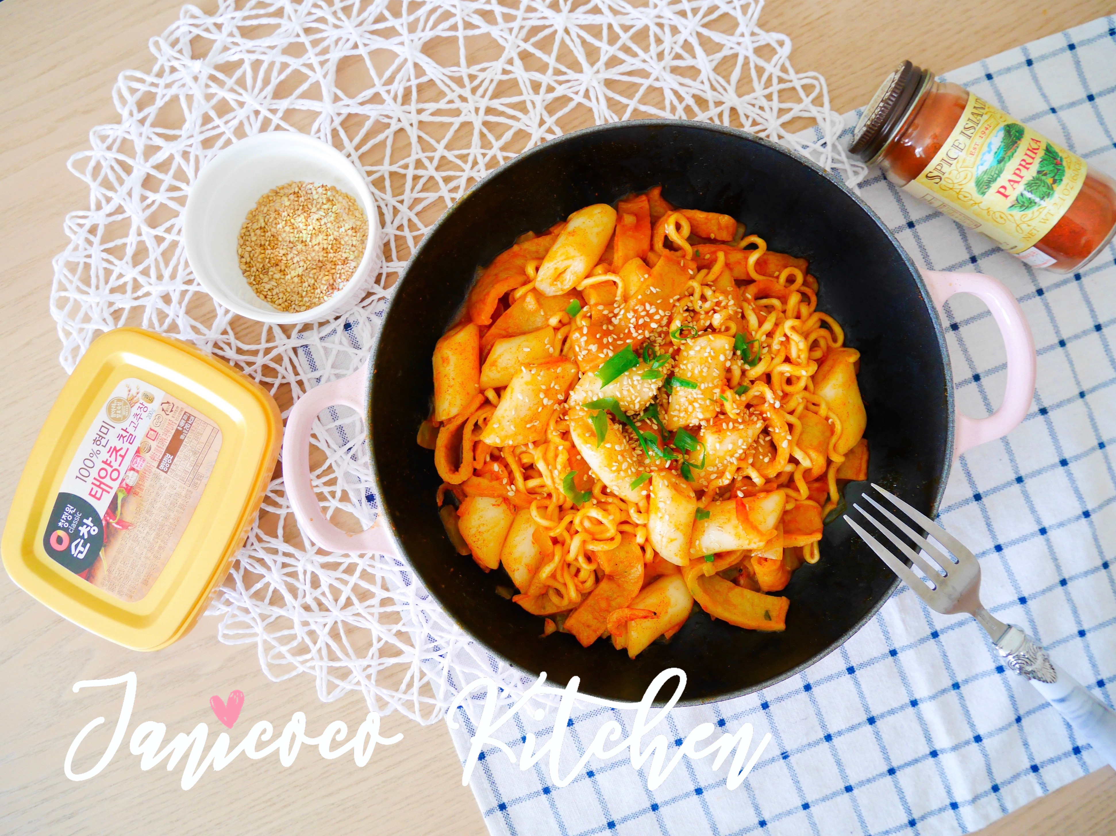 韓式料理🍢辣炒魚糕年糕拉麵