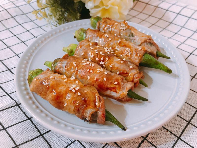 氣炸鍋料理-秋葵肉捲