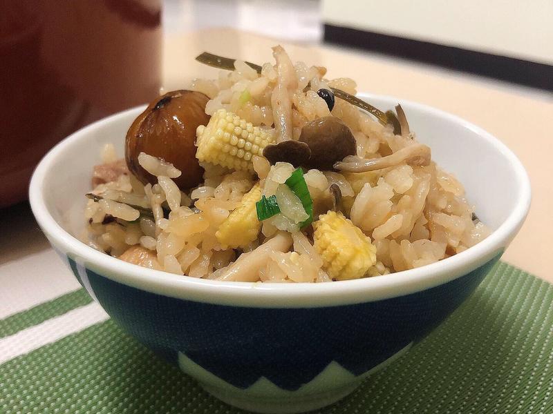 栗子菇菇雞肉炊飯🌰一鍋到底