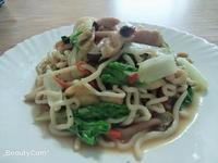 雞肉炒蒟蒻烏冬麵   減重餐