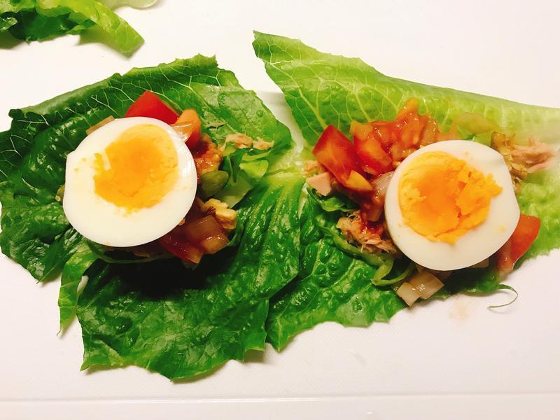 減醣早餐👉莎莎醬蘿蔓沙拉