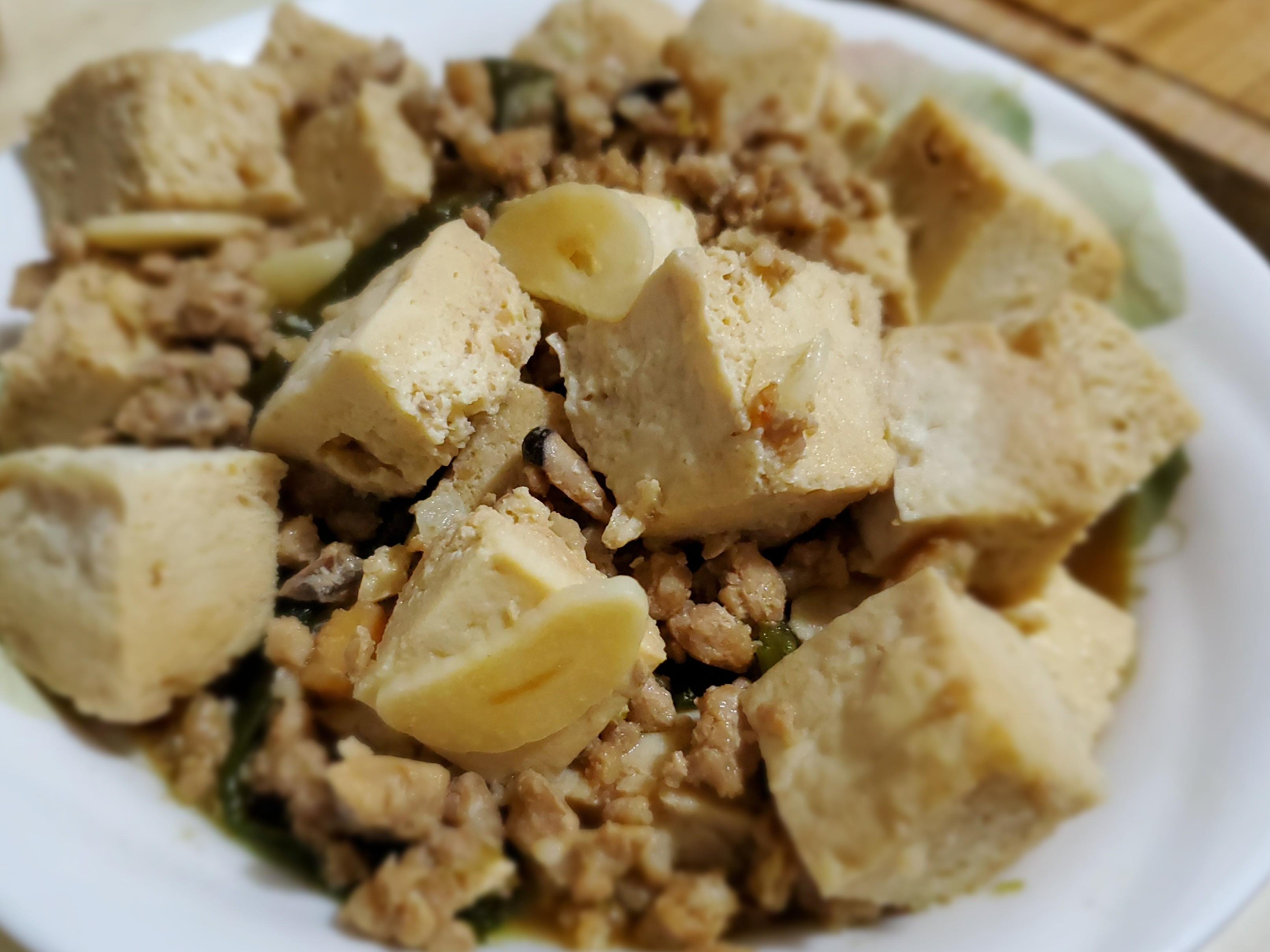 簡單快速料理:剝皮辣椒燴凍豆腐