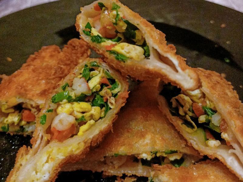 酥脆韭菜蝦餃