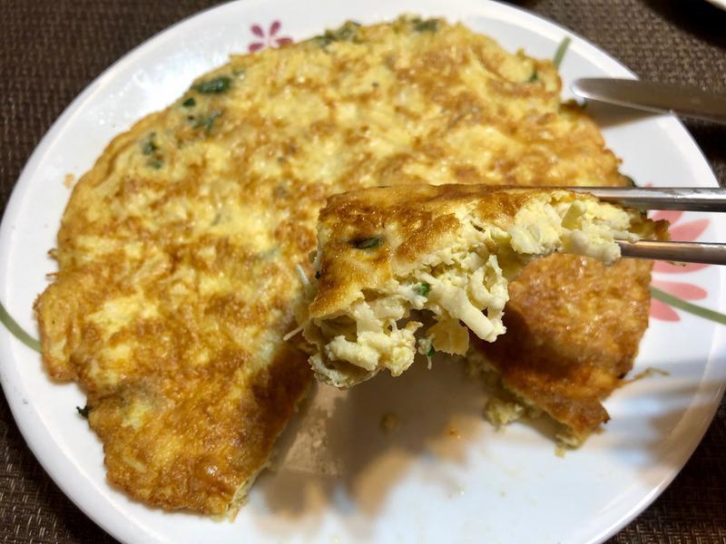 金針菇九層塔煎蛋