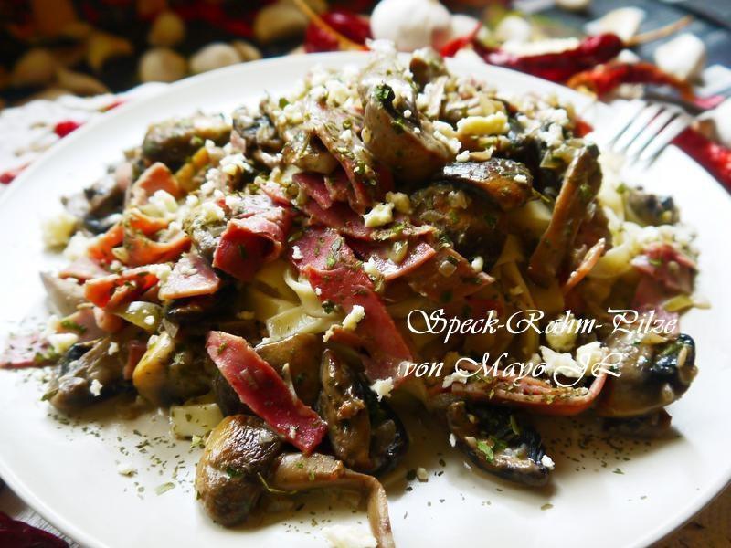 奶油培根蘑菇義大利麵