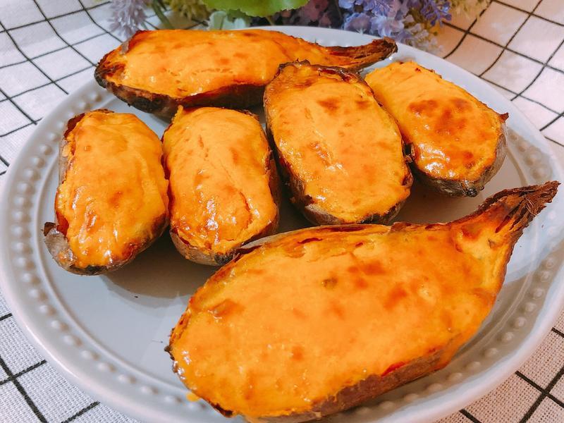 氣炸鍋做甜點-地瓜燒