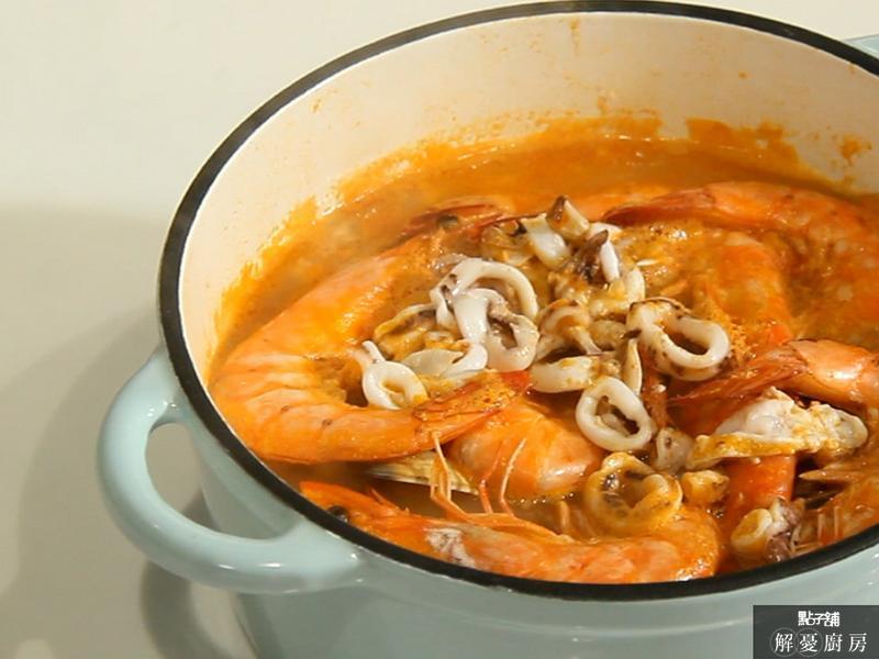 西班牙海鮮番茄湯-無水料理