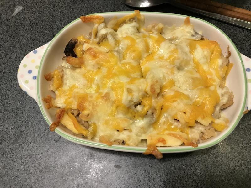 脆薯焗烤菇菇雞飯