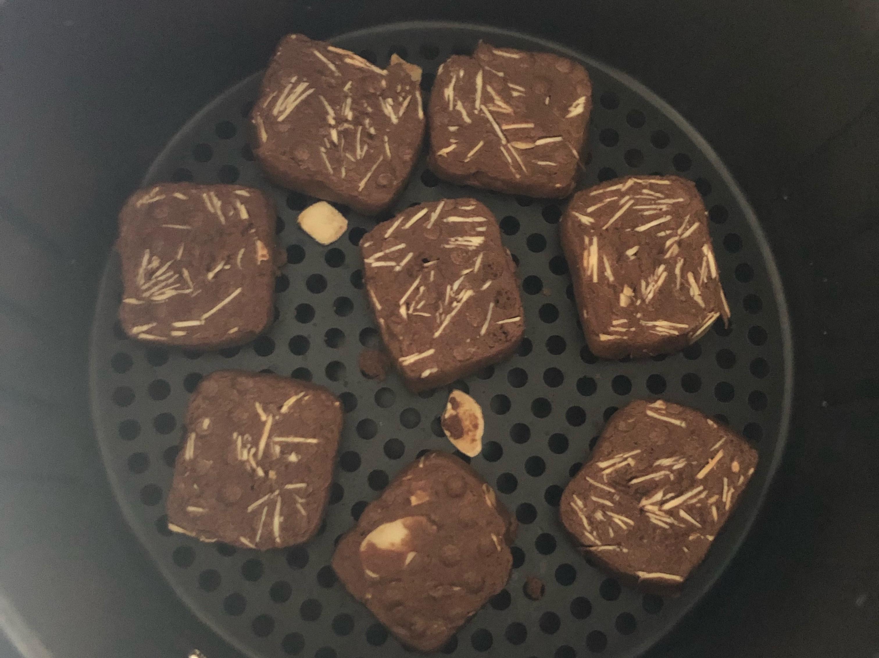 氣炸鍋點心「巧克力杏仁餅」