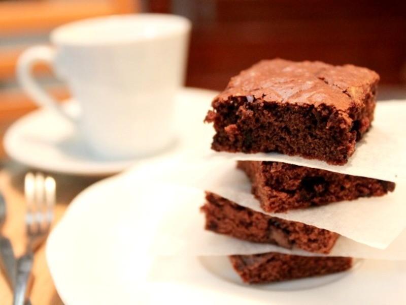 巧克力布朗尼。療癒系的溫暖