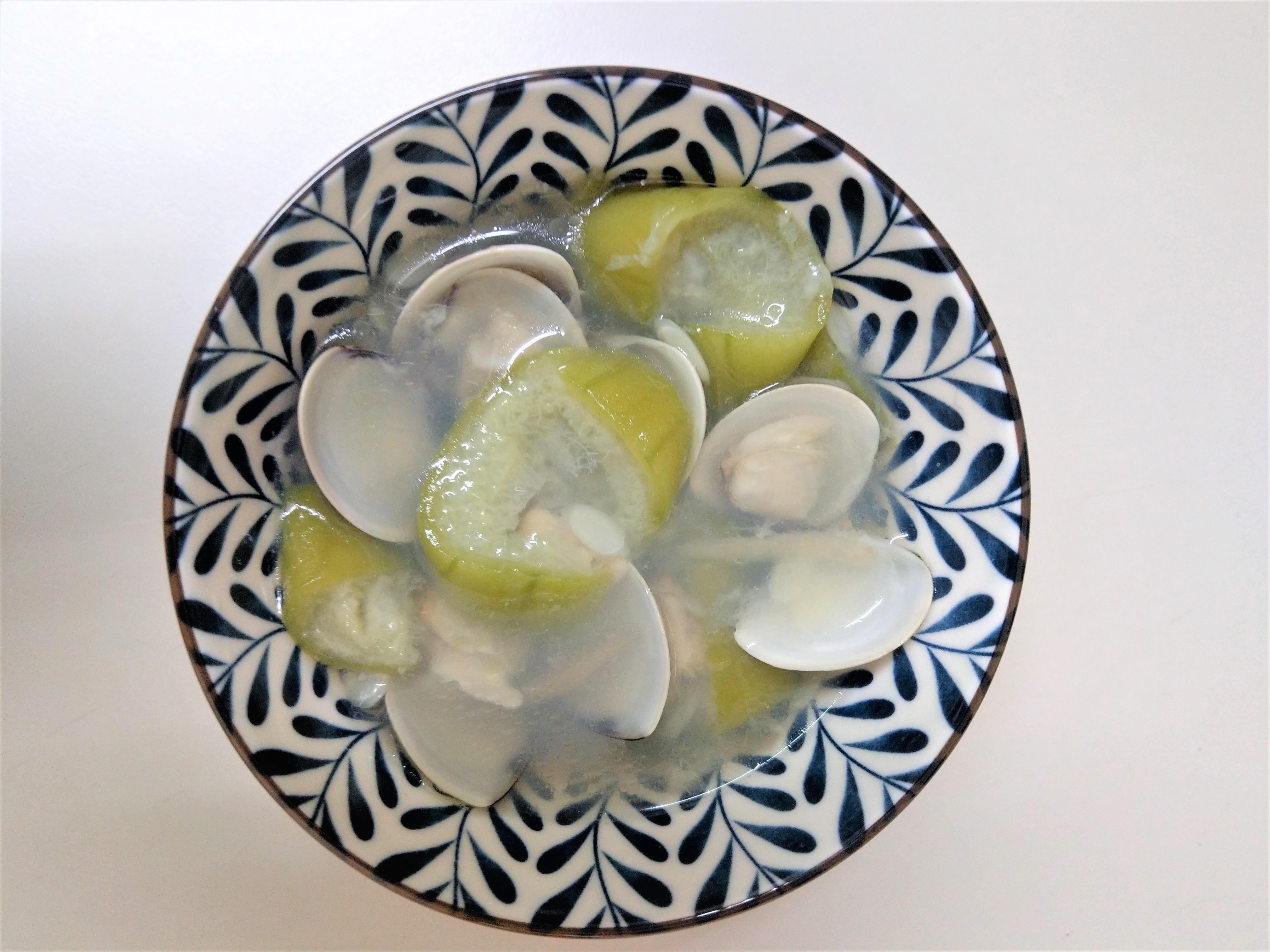 軟嫩絲瓜蛤蠣湯 (電鍋料理)(新手OK)