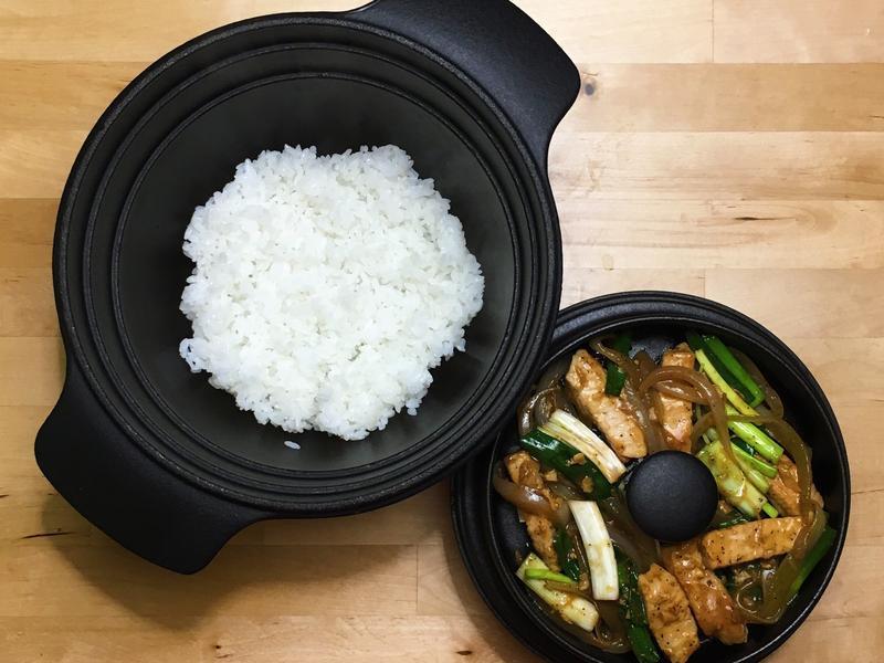 黑胡椒豬柳+白米飯