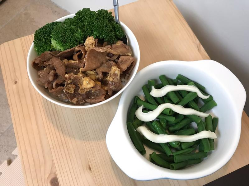 綠色肉肉丼飯