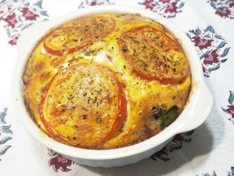 清冰箱料理-烤箱時蔬烘蛋