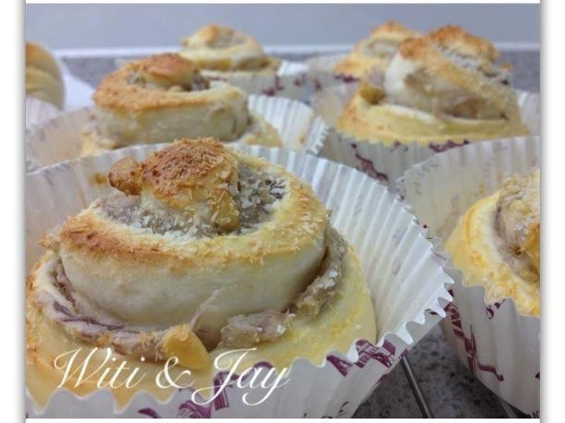 [Witi✿Kitchen](麵包機-麵包)椰香芋泥松子捲