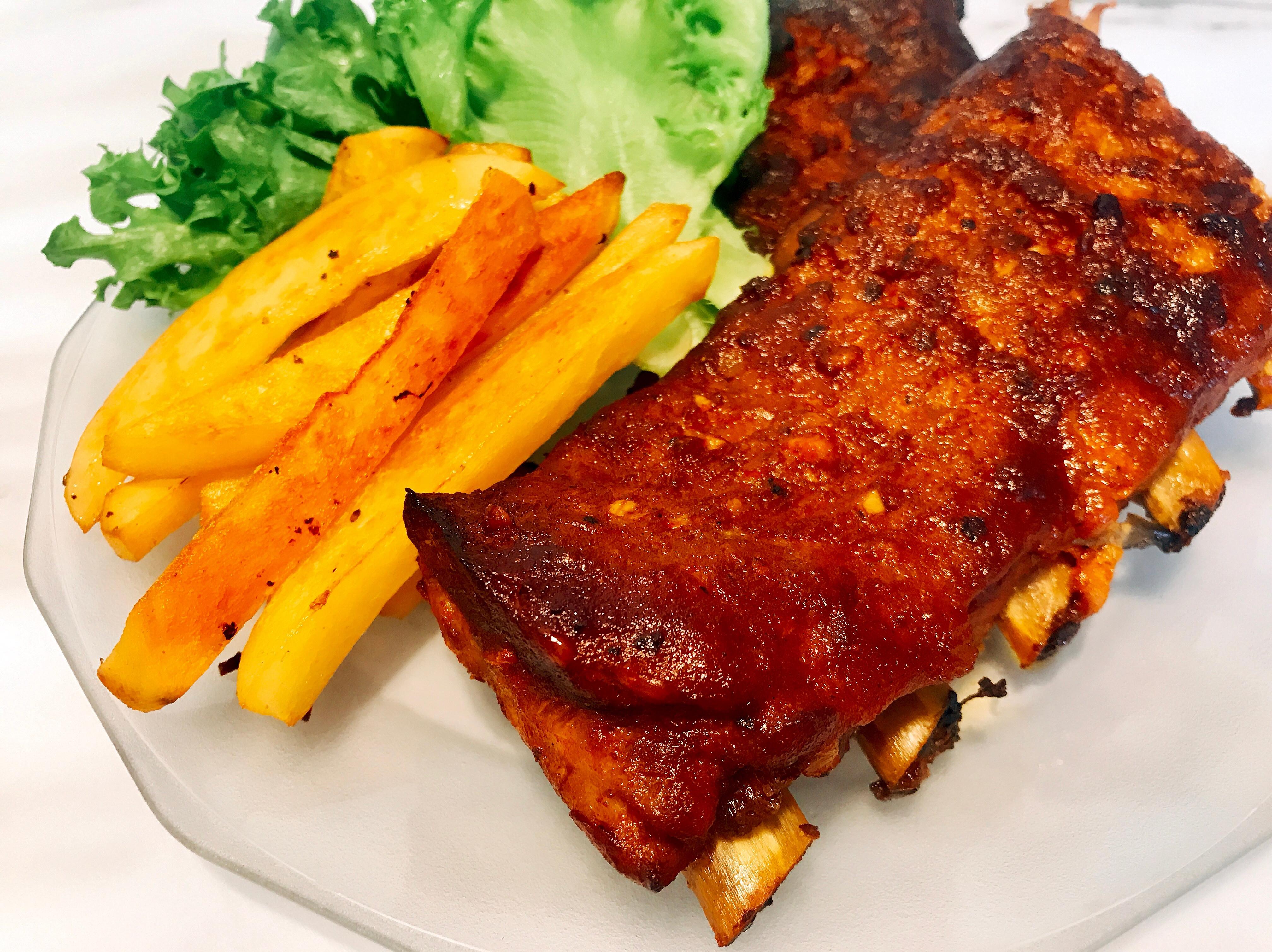 美式烤豬肋排(無油煙料理)