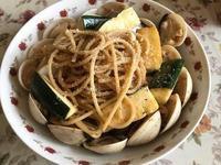 ♡櫛瓜蛤蜊義大利麵♡