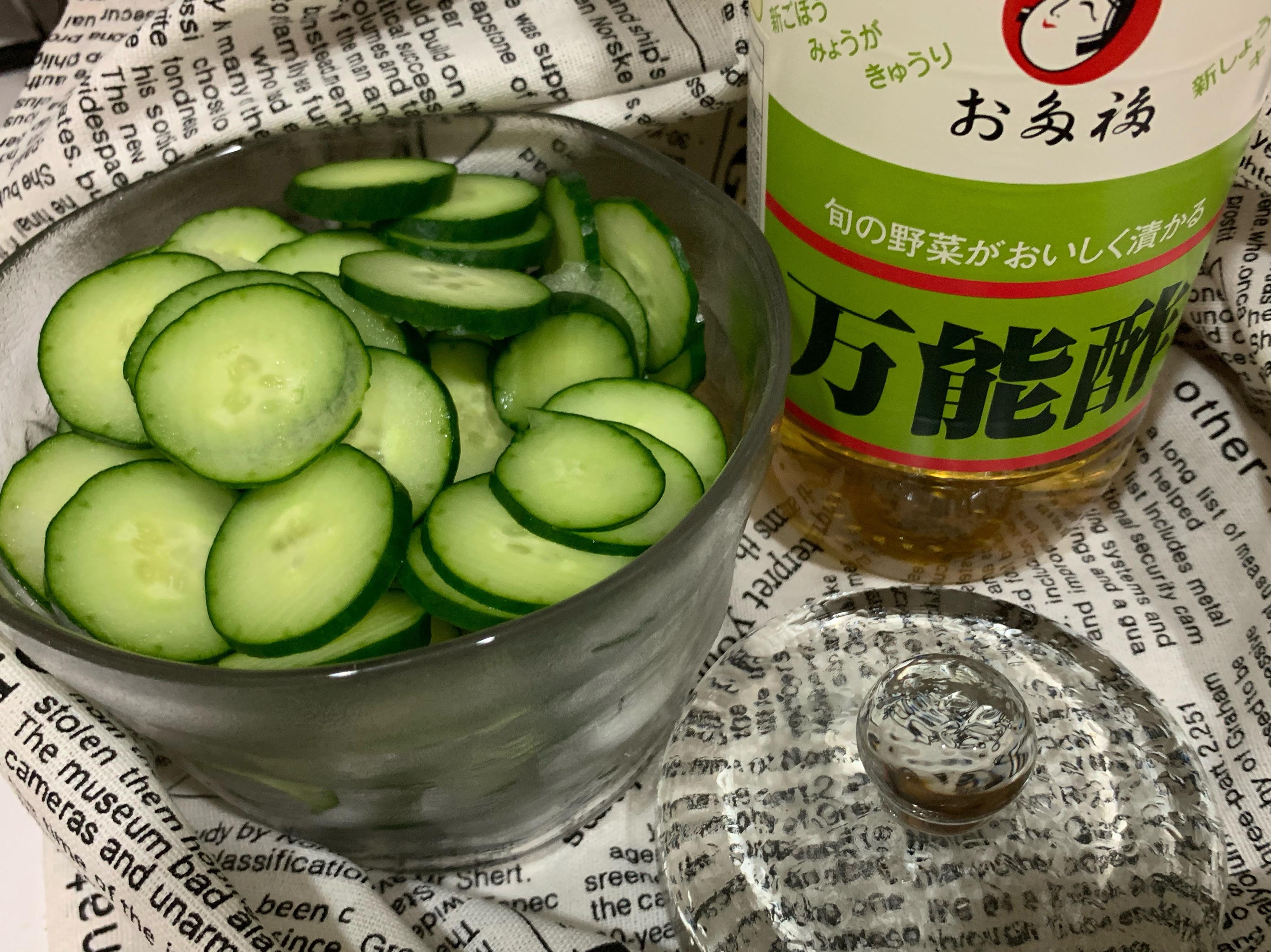 簡易涼拌小黃瓜(萬能醋)