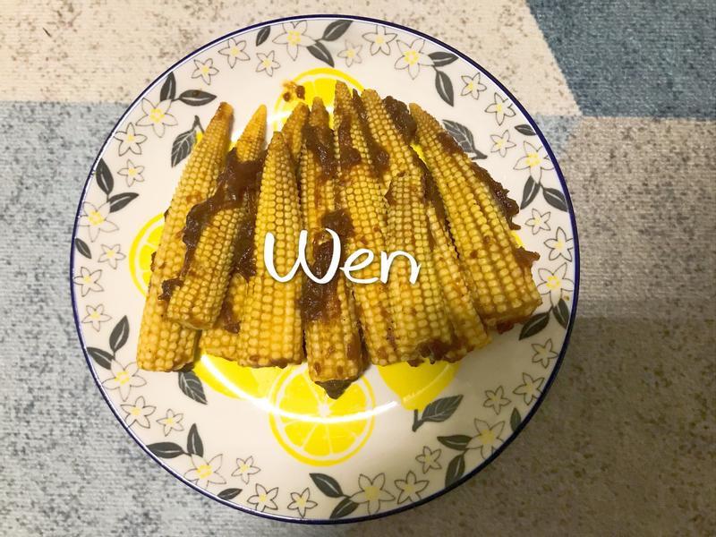 乾煎咖喱玉米筍