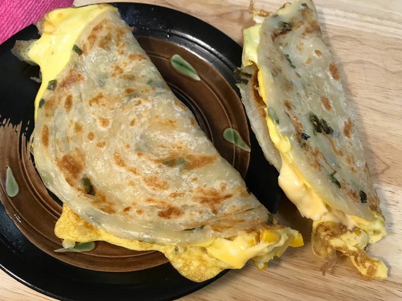 可外帶早餐~玉米蛋起司蔥油派