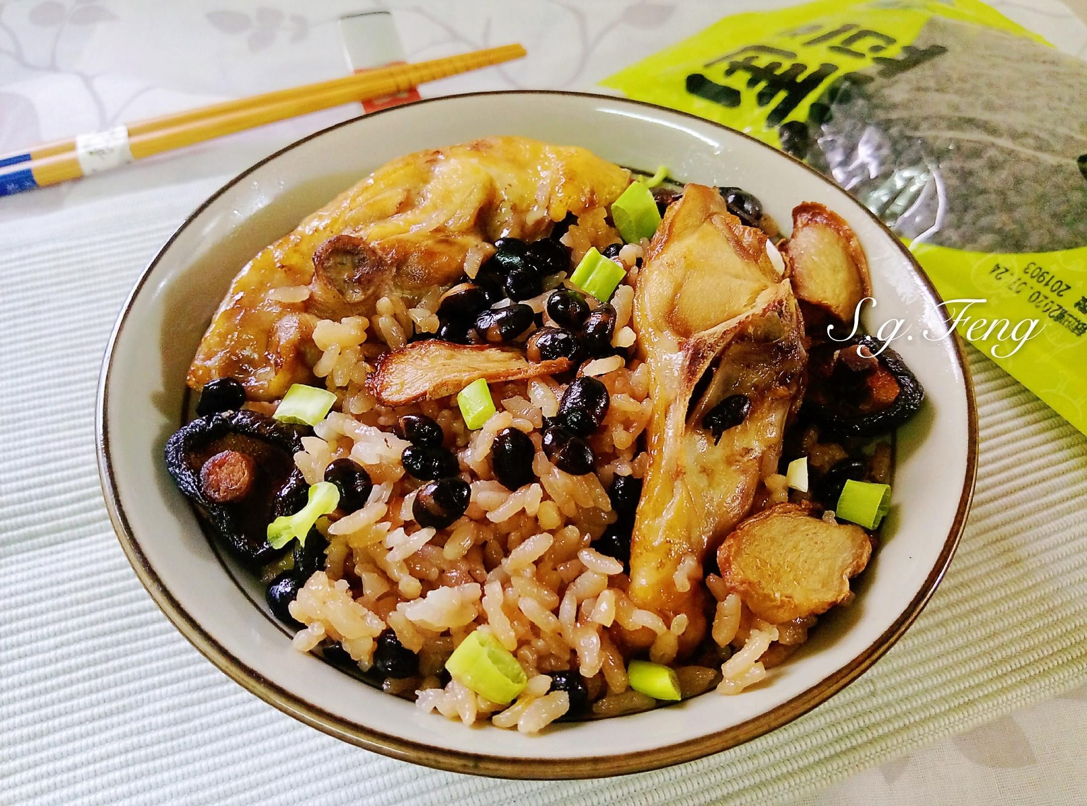 黑豆麻油雞飯(電鍋版)