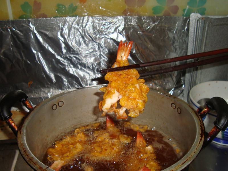 玉米脆片炸蝦
