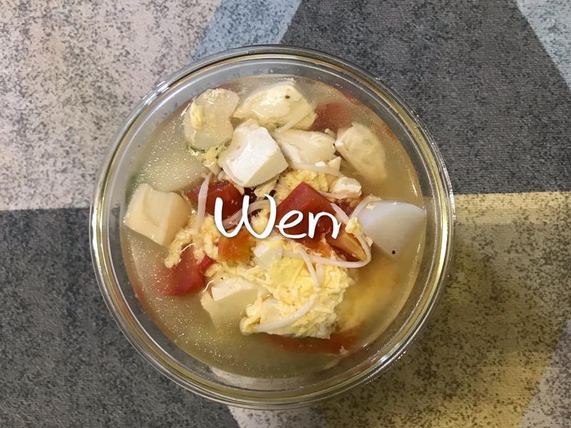 番茄豆腐魚丸湯