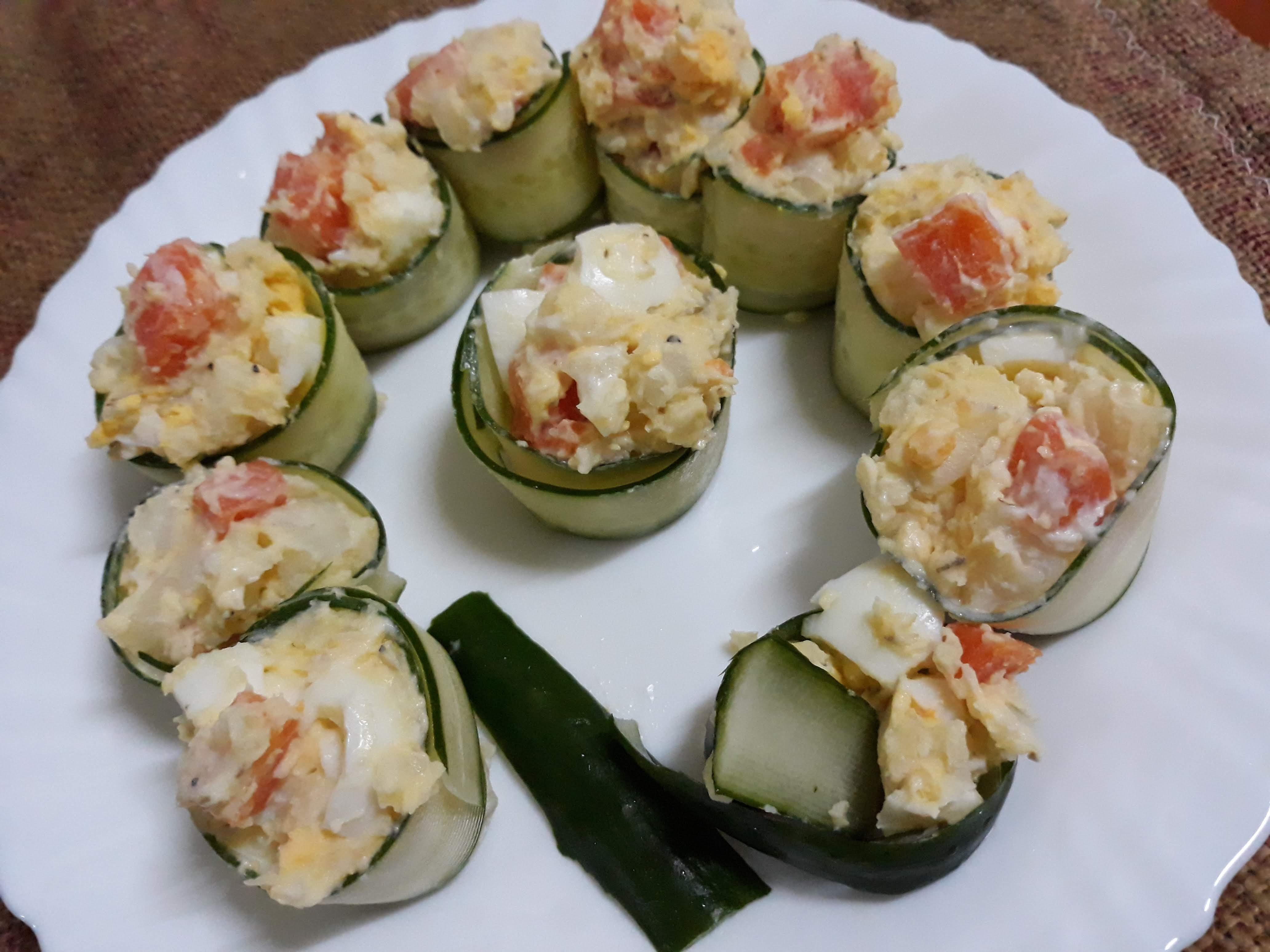 輕食洋芋黃瓜沙拉捲
