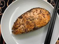 お弁当-191021-煎蒸鮭魚