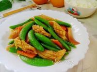 甜豆炒魷魚花