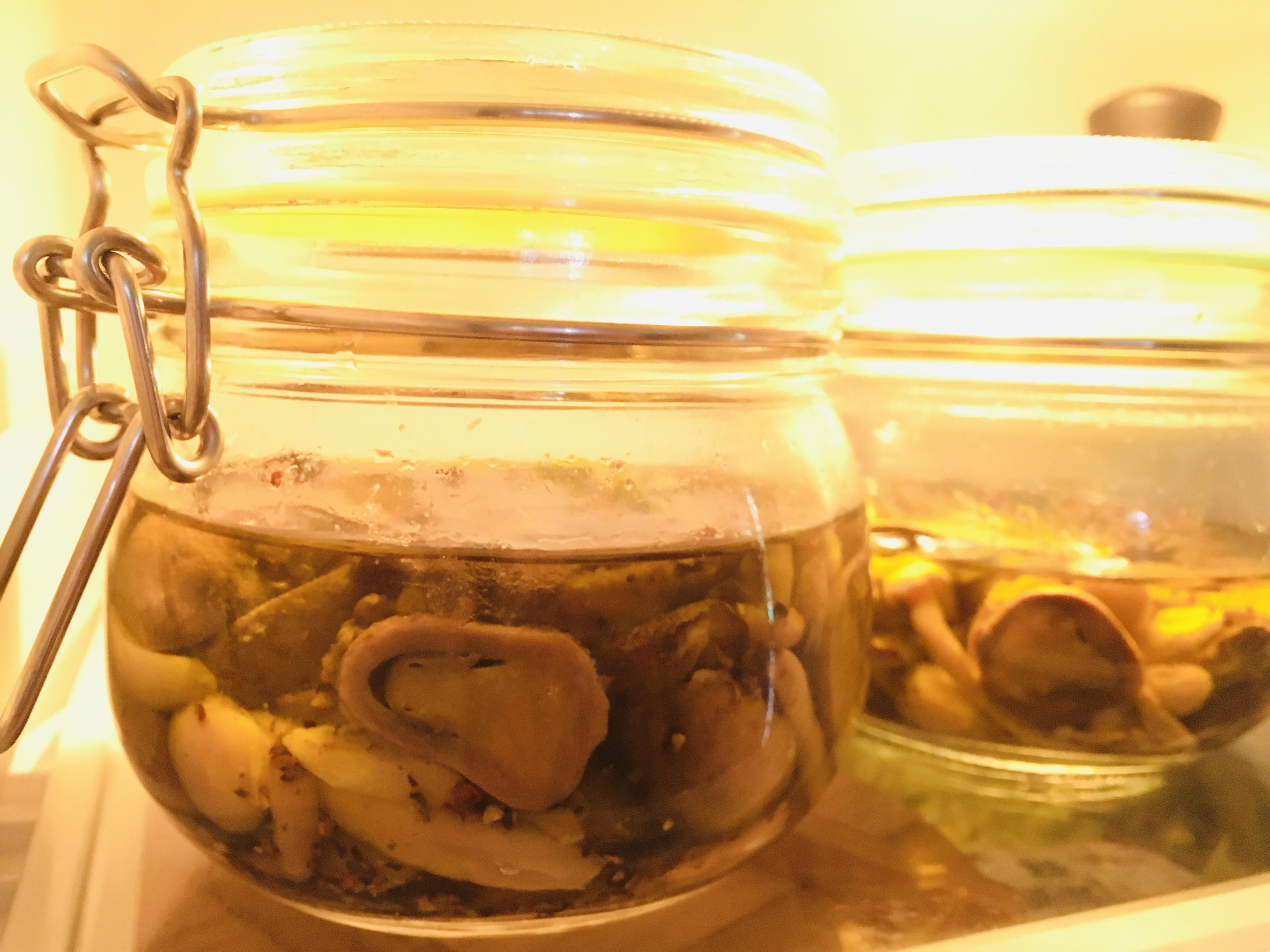 冰箱常備油漬菇