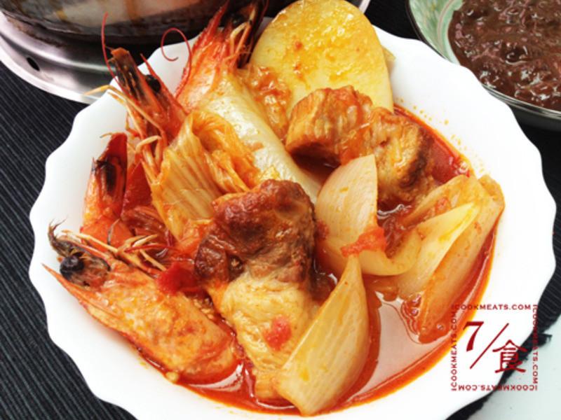 【7/食】韓式海鮮豬肉鍋和腐乳沾醬