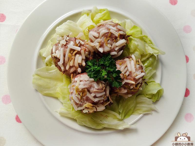 豆芽肉丸子。微波做低醣主菜