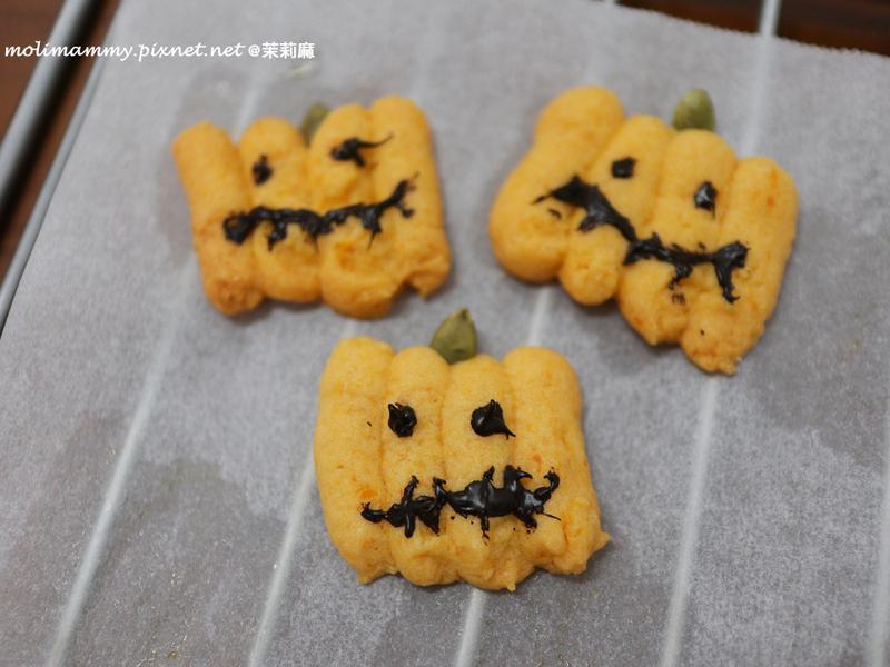 萬聖節南瓜造型餅乾(茉莉麻親子廚房)