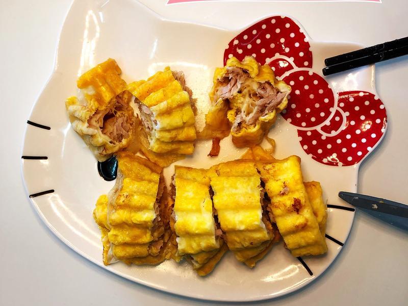 低醣生酮·鮪魚起司蛋千張捲☀️小v鬆餅機