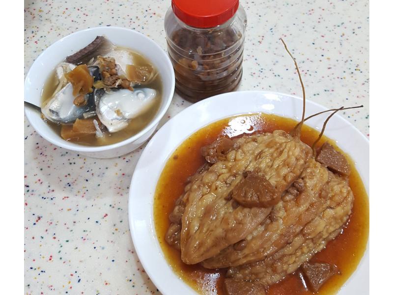 鹹鳳梨滷苦瓜虱目魚
