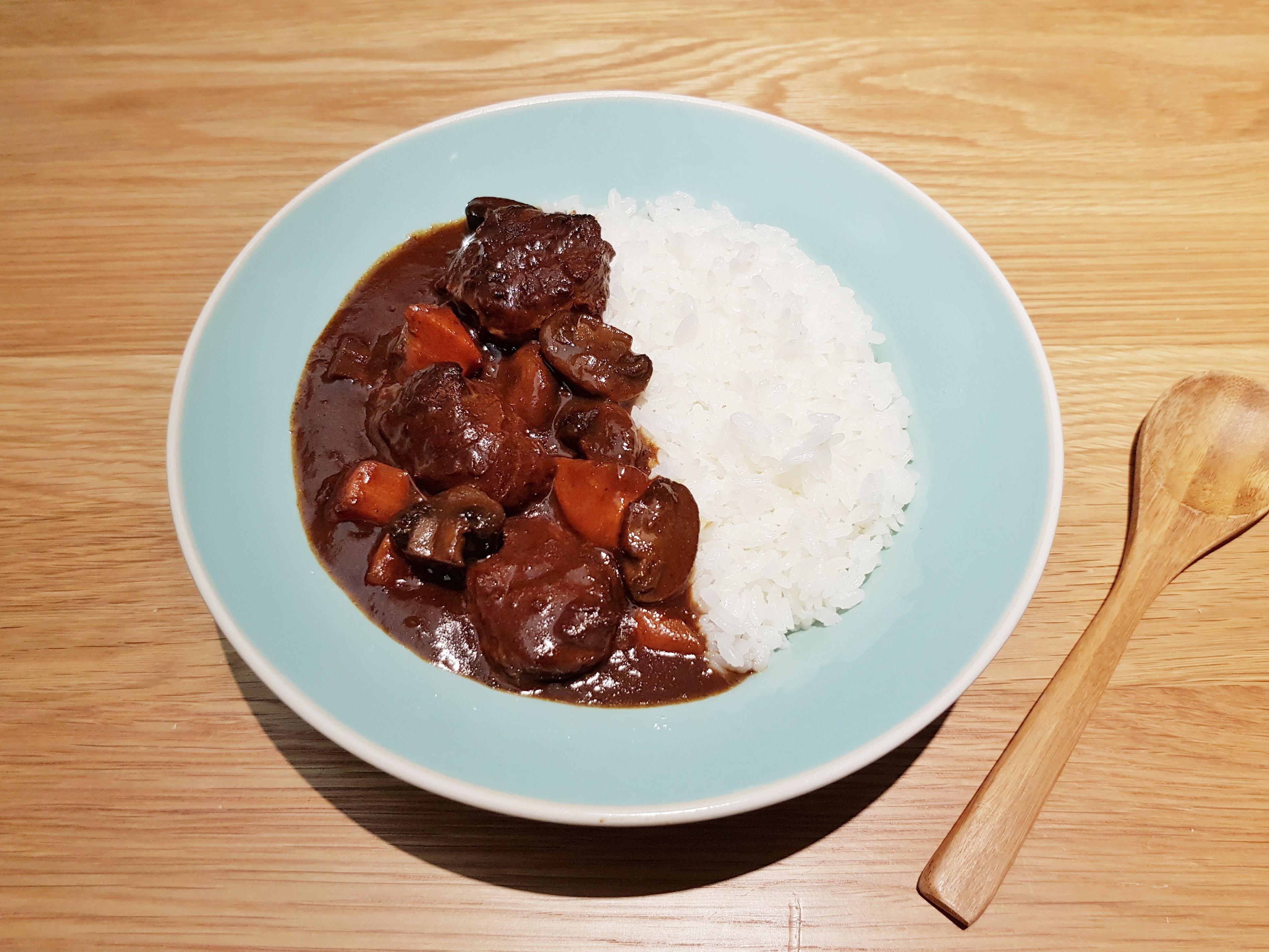 紅酒蘑菇牛肉咖哩