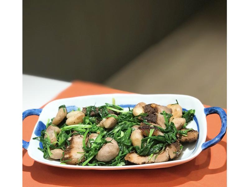 菱角鹹肉珠蔥