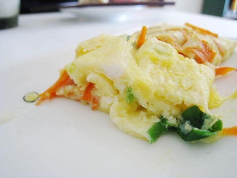 無油紅蘿蔔煎蛋