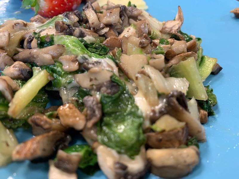 炒蔬菜蘑菇起司