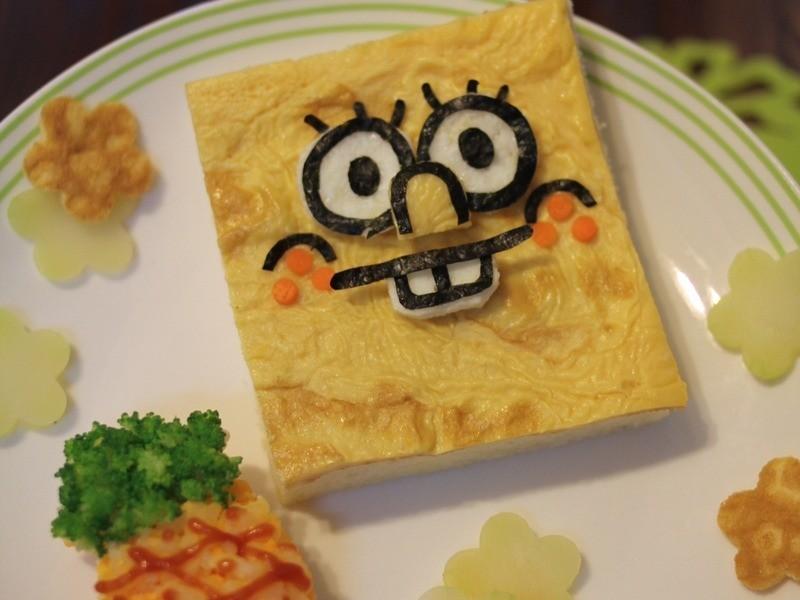 Kitty喵-海綿寶寶吐司餐