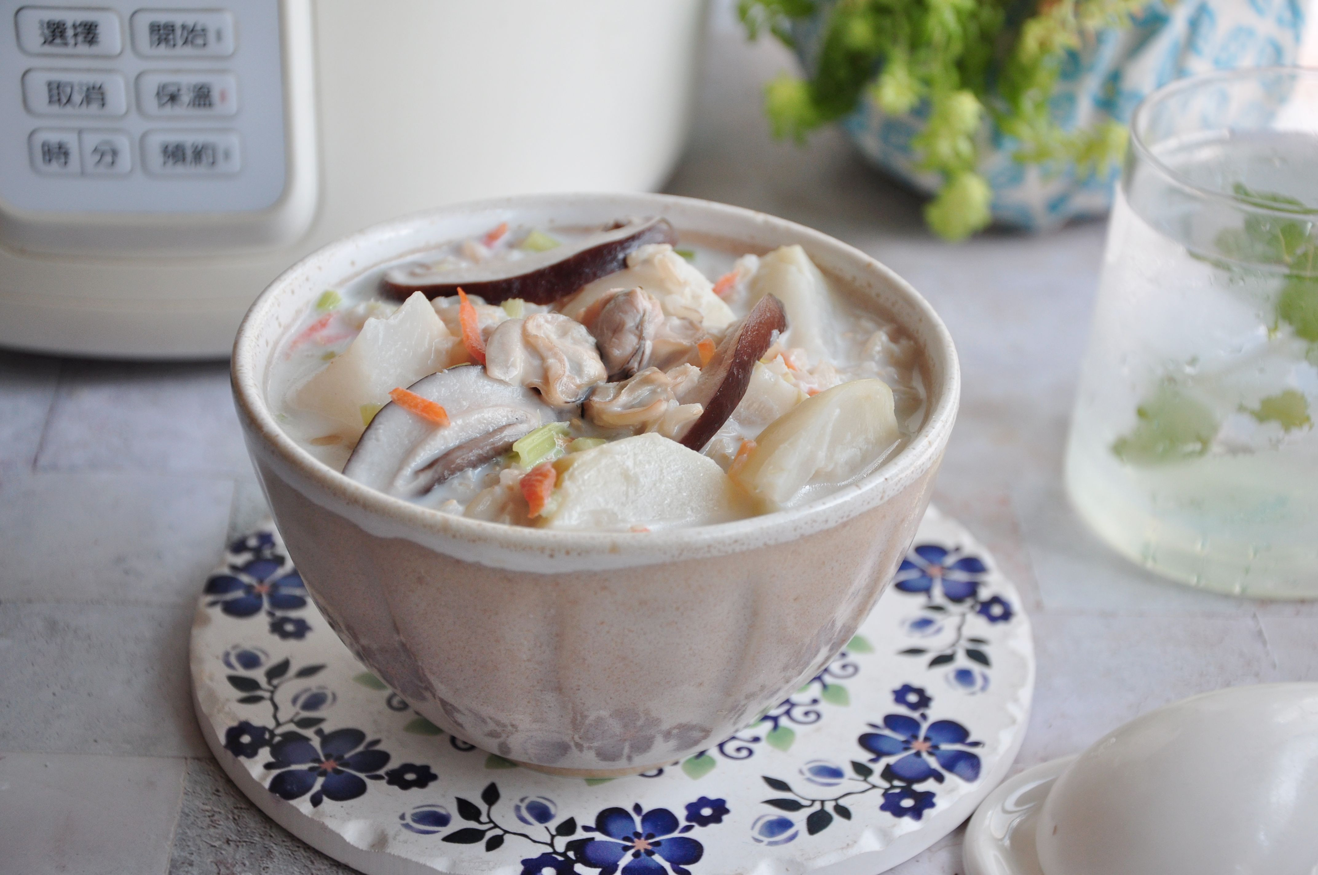 奶香蛤蜊糙米粥