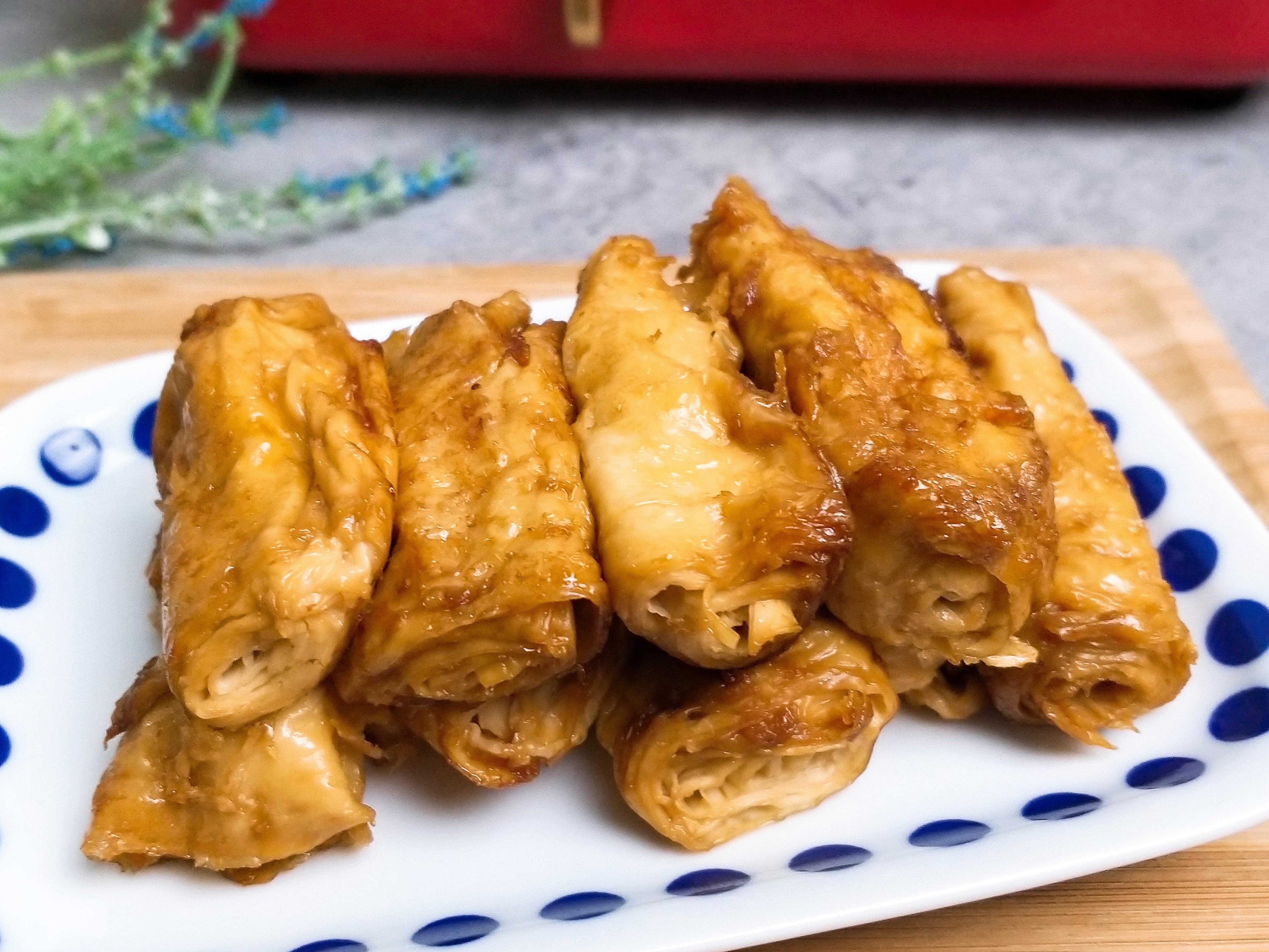 醬油香煎豆皮捲/豆腸/低醣料理